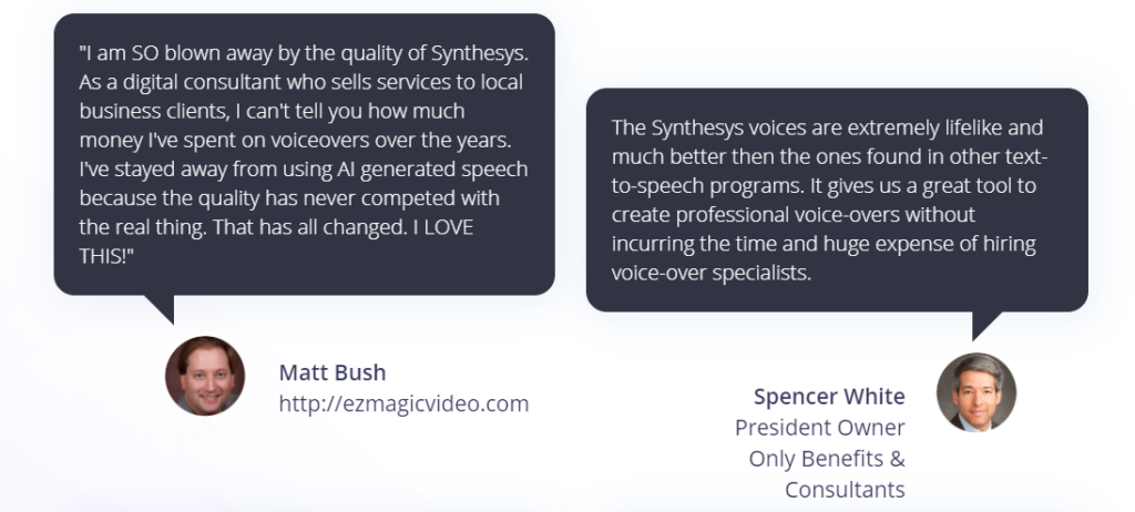 synthesys review testimonial